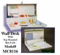 Wall Desk With Top Mounted Keylock