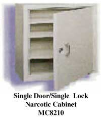 Single Door/single Lock Narcotic Cabinet